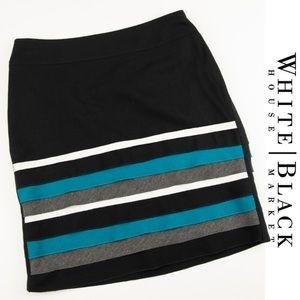 WHBM Striped Skirt